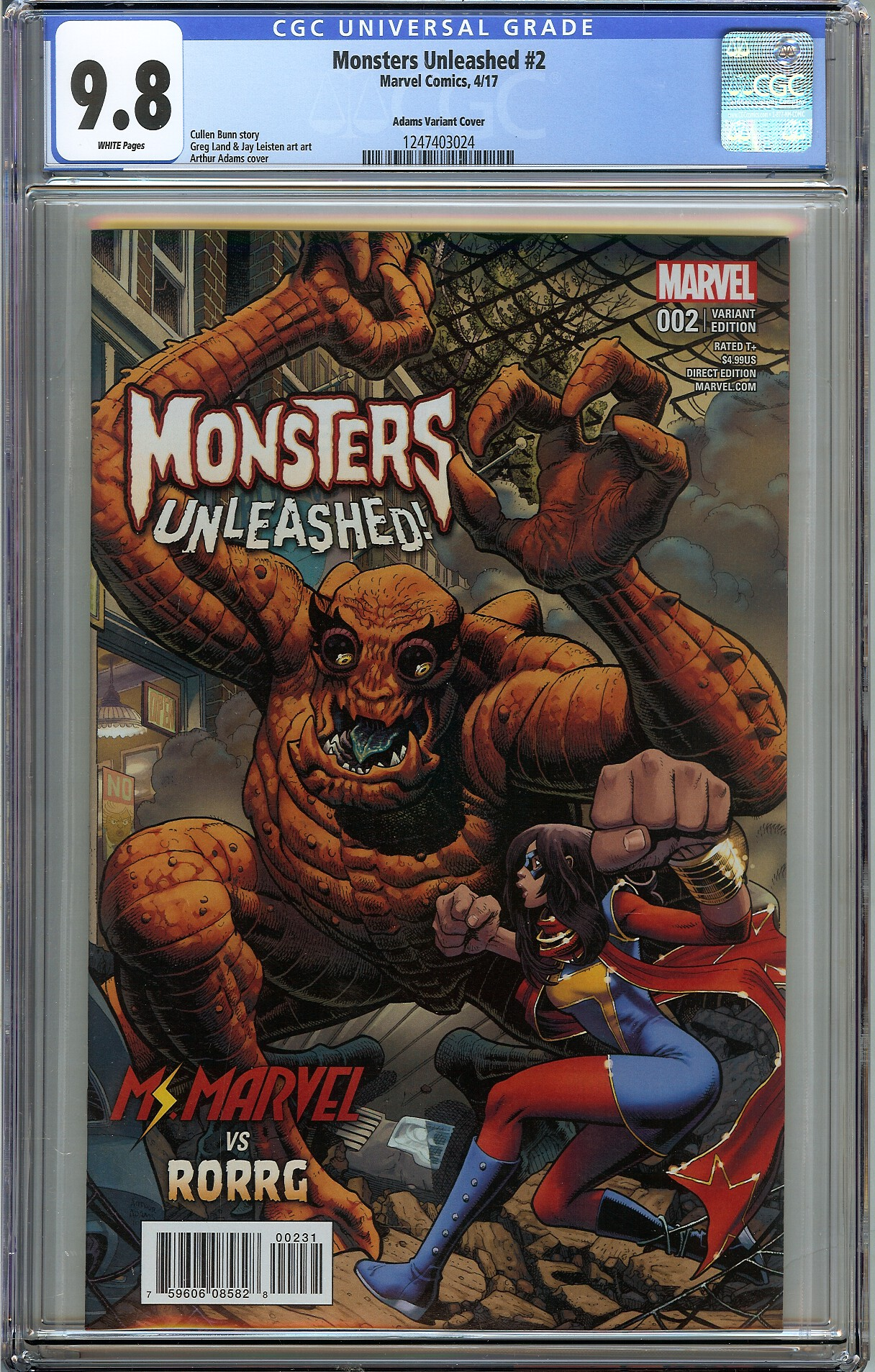 Collectibles Monsters Unleashed #2 Variant Marvel Comics Other Modern Age Comics