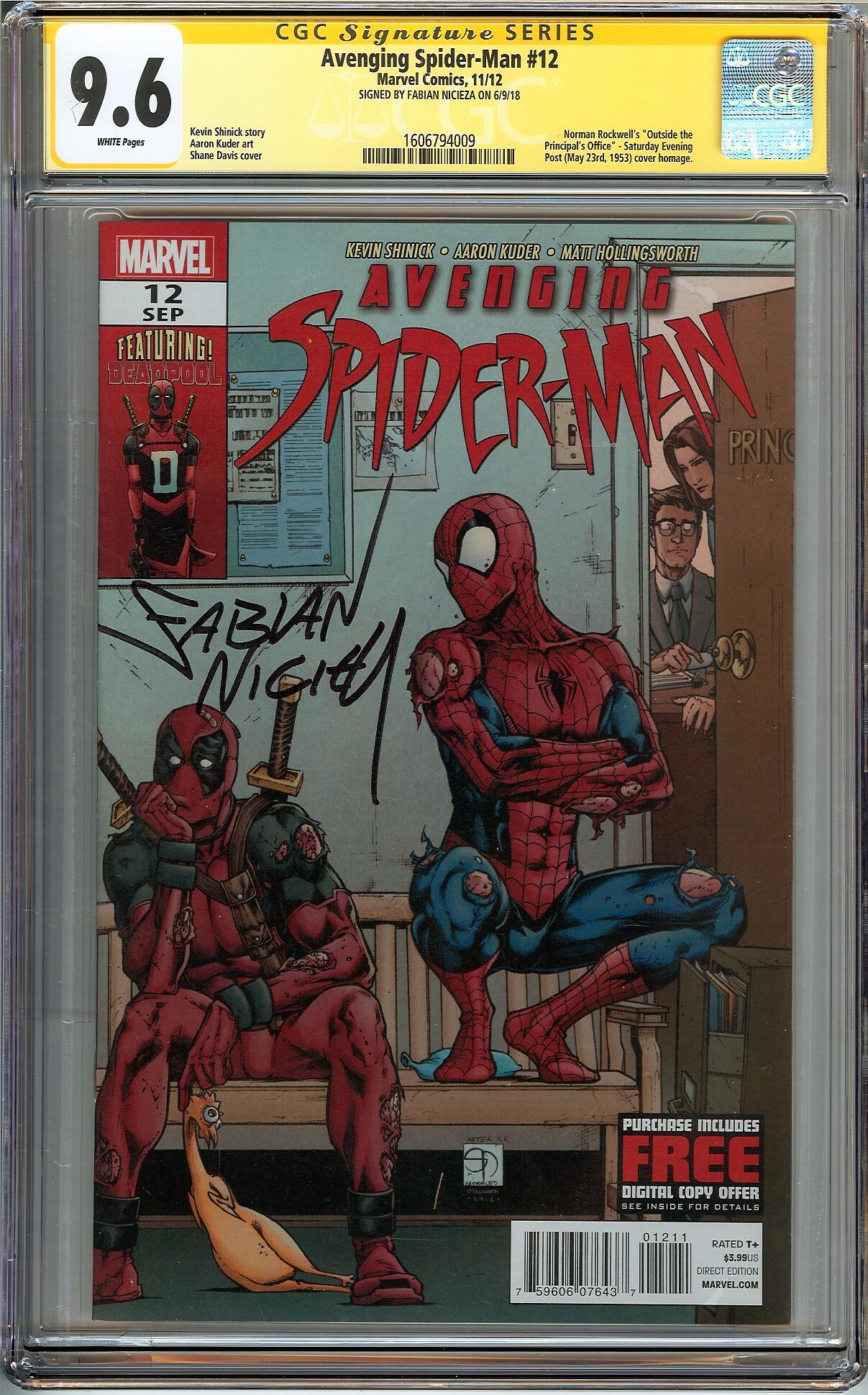 Detalles acerca de Justiciera Spider-Man #12 Certificado Garantía  Corporation 9.6 Casi Nuevo + Firmada Fabian Nicieza Deadpool Marvel Comics-  mostrar título ...