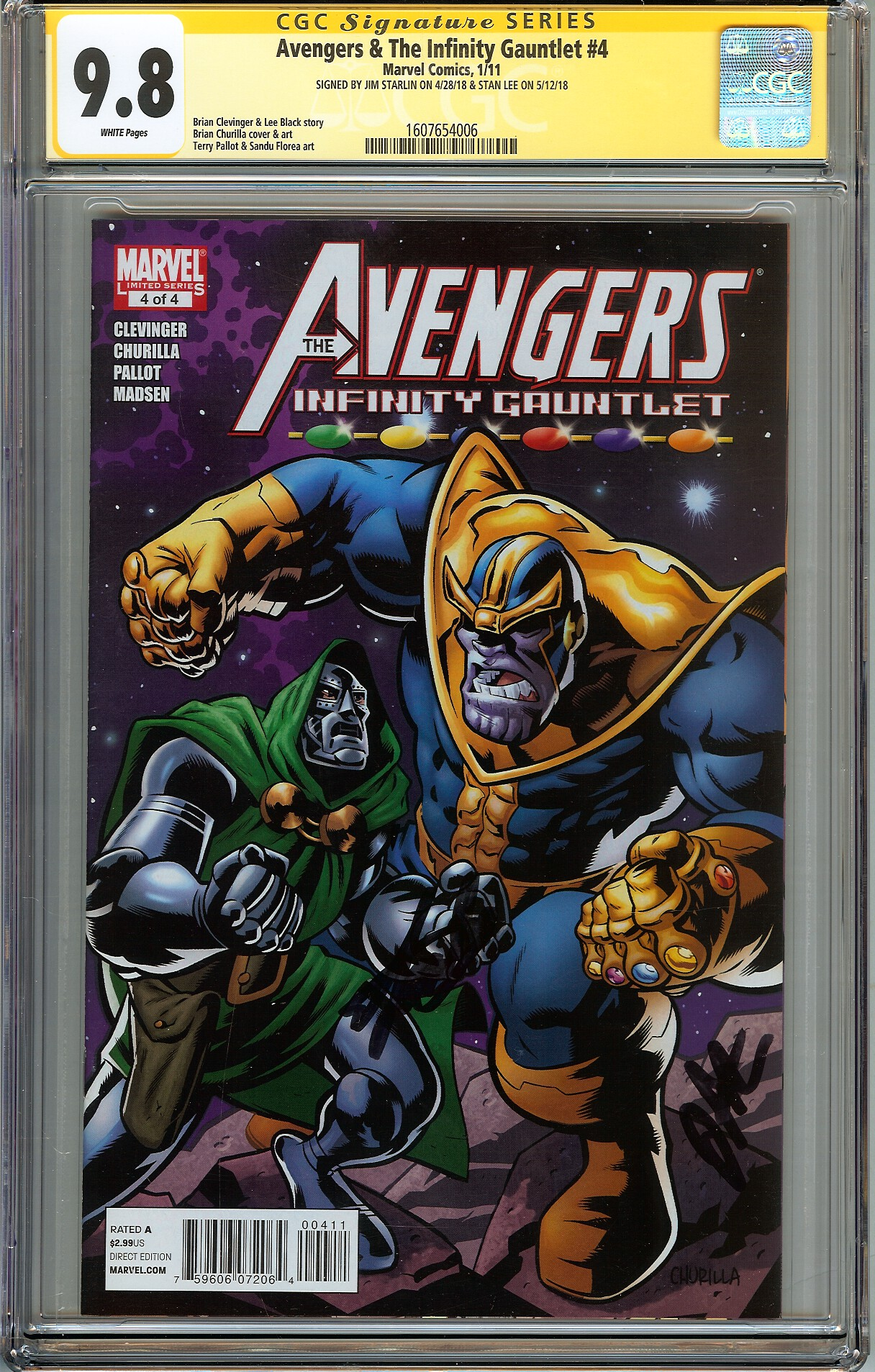 Details about Avengers & The Infinity Gauntlet #4 CGC 9 8 NM/MT Signed 2x  STAN LEE JIM STARLIN